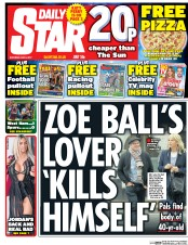 Daily Star (UK) Newspaper Front Page for 6 May 2017