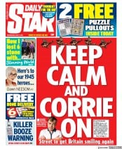 Daily Star (UK) Newspaper Front Page for 6 May 2020
