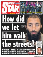 Daily Star (UK) Newspaper Front Page for 6 June 2017
