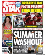 Daily Star front page for 6 July 2020