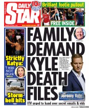 Daily Star () Newspaper Front Page for 7 October 2019