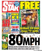 Daily Star () Newspaper Front Page for 7 December 2019