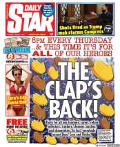 Daily Star front page for 7 January 2021