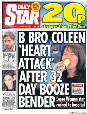 Daily Star (UK) Newspaper Front Page for 7 February 2017