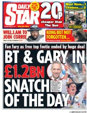 Daily Star (UK) Newspaper Front Page for 7 March 2017
