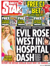 Daily Star (UK) Newspaper Front Page for 7 April 2018