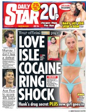 Daily Star (UK) Newspaper Front Page for 7 July 2017