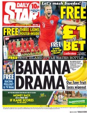 Daily Star (UK) Newspaper Front Page for 7 July 2018