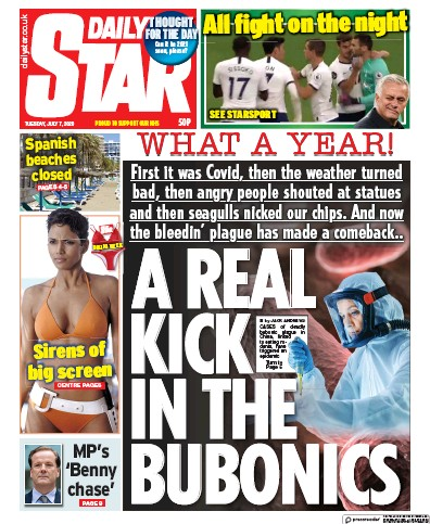 Daily Star Newspaper Front Page (UK) for 7 July 2020