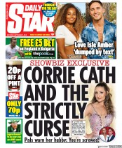 Daily Star (UK) Newspaper Front Page for 7 September 2019