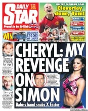 Daily Star Newspaper Front Page (UK) for 8 October 2012