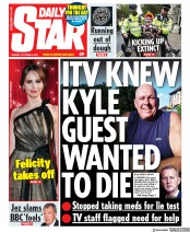 Daily Star (UK) Newspaper Front Page for 8 October 2019