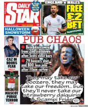 Daily Star front page for 8 October 2020