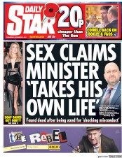 Daily Star (UK) Newspaper Front Page for 8 November 2017