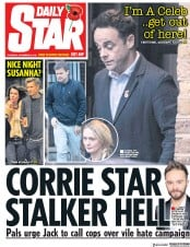 Daily Star (UK) Newspaper Front Page for 8 November 2018