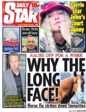 Daily Star () Newspaper Front Page for 8 February 2019