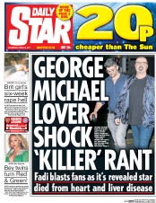 Daily Star (UK) Newspaper Front Page for 8 March 2017