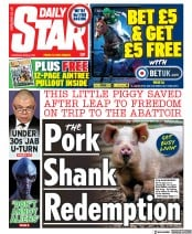 Daily Star () Newspaper Front Page for 8 April 2021