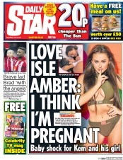 Daily Star (UK) Newspaper Front Page for 8 July 2017