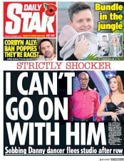 Daily Star (UK) Newspaper Front Page for 9 November 2018