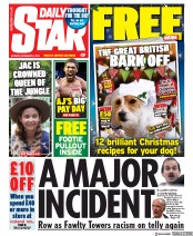 Daily Star () Newspaper Front Page for 9 December 2019