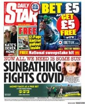 Daily Star front page for 9 April 2021