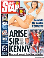 Daily Star (UK) Newspaper Front Page for 9 June 2018