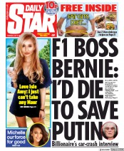Daily Star (UK) Newspaper Front Page for 9 July 2019