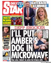 Daily Star front page for 9 July 2020
