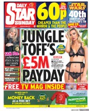 Daily Star Sunday (UK) Newspaper Front Page for 10 December 2017