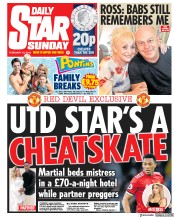 Daily Star Sunday (UK) Newspaper Front Page for 10 February 2019