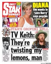 Daily Star Sunday front page for 10 May 2020