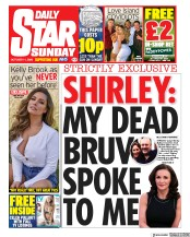 Daily Star Sunday front page for 11 October 2020