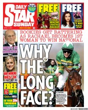 Daily Star Sunday front page for 11 April 2021
