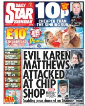 Daily Star Sunday (UK) Newspaper Front Page for 12 February 2017