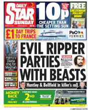 Daily Star Sunday () Newspaper Front Page for 12 March 2017