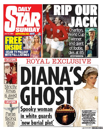 Daily Star Sunday Newspaper Front Page (UK) for 12 July 2020
