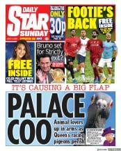 Daily Star Sunday front page for 14 June 2020