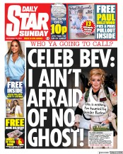 Daily Star Sunday front page for 15 November 2020