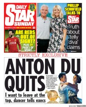 Daily Star Sunday () Newspaper Front Page for 15 December 2019