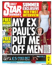 Daily Star Sunday () Newspaper Front Page for 15 September 2019