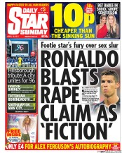 Daily Star Sunday (UK) Newspaper Front Page for 16 April 2017