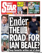 Daily Star Sunday (UK) Newspaper Front Page for 16 August 2020