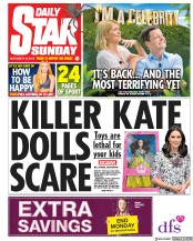 Daily Star Sunday (UK) Newspaper Front Page for 18 November 2018