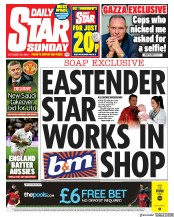 Daily Star Sunday () Newspaper Front Page for 20 October 2019