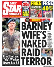 Daily Star Sunday (UK) Newspaper Front Page for 20 January 2019
