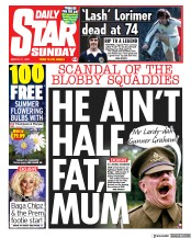 Daily Star Sunday front page for 21 March 2021