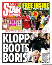 Daily Star Sunday front page for 21 June 2020