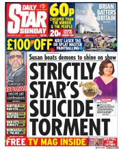 Daily Star Sunday (UK) Newspaper Front Page for 22 October 2017