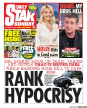 Daily Star Sunday front page for 22 November 2020